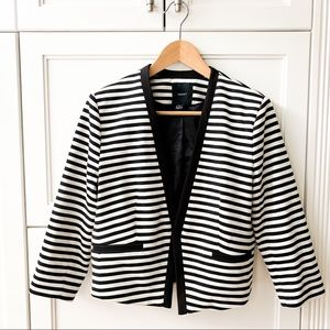 Forever 21 striped cropped blazer